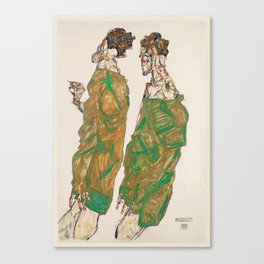 "Egon Schiele ""Devotion"" Canvas Print"