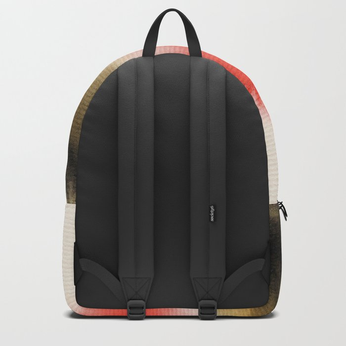 Watercolor abstract landscape 14 Backpack