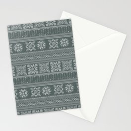 Knitted christmas pattern Stationery Cards