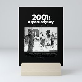 2001 A Space Odyssey Behind the Scenes Movie Poster Mini Art Print