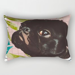Pug on an Island Rectangular Pillow