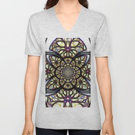 The Art Of Stain Glass Unisex V-Neck