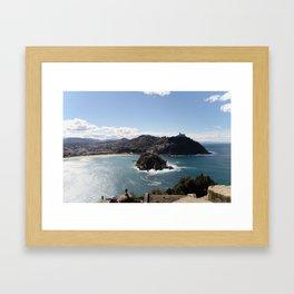 La Concha Bay. Donostia-San Sebastián. Framed Art Print