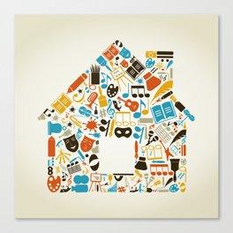 Art the house Canvas Print