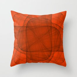 Fractal Eternal Rounded Cross in Red Throw Pillow