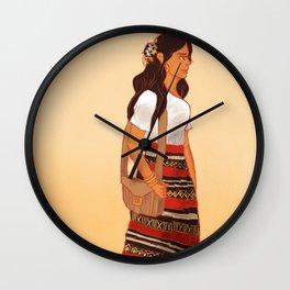 Maldivian Girl Wall Clock