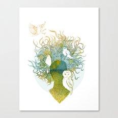 Spring birds Canvas Print