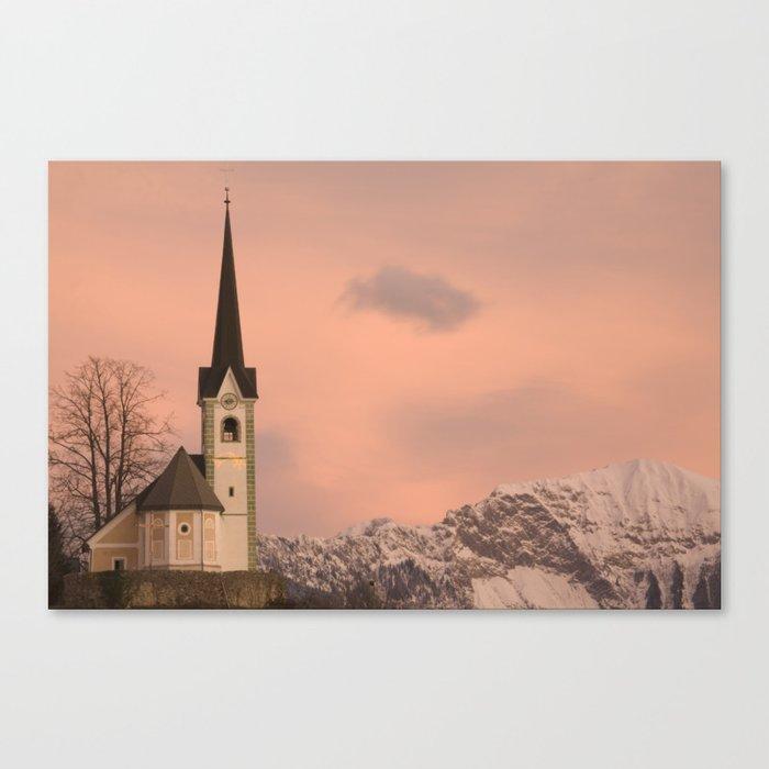Tabor church at sunrise Canvas Print