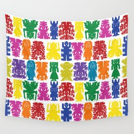 Mexican Folk Art Colors Wall Tapestry