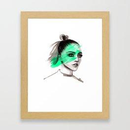 Sasha in mochito vibes Framed Art Print