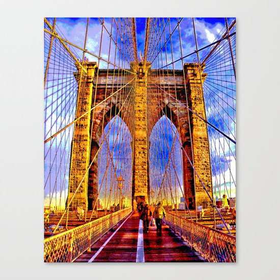 Brooklyn bridge NY Canvas Print