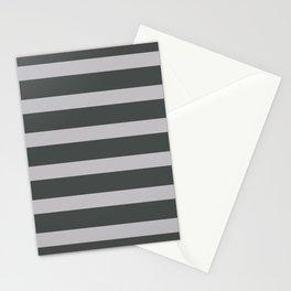 Silver Stripes on Black Background Stationery Cards
