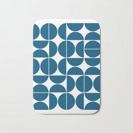 Mid Century Modern Geometric 04 Blue Bath Mat
