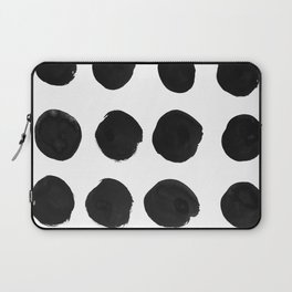 Black Dots Laptop Sleeve