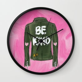 Be Kind Fashion Print Wall Clock