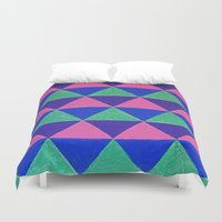 triangles Duvet Covers featuring Triangles by Marjolein