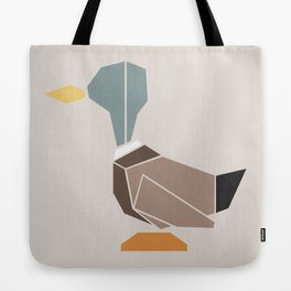 { the geometric forest series - mallard } Tote Bag