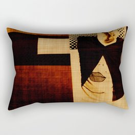 sepia collage-V Rectangular Pillow