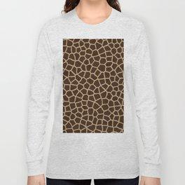 Giraffe Print Pattern Long Sleeve T-shirt
