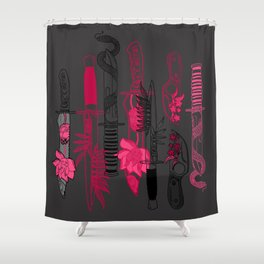 Knife Party Shower Curtain