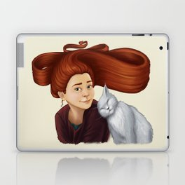2014-08 Girl with her cat Laptop & iPad Skin
