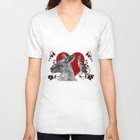 kangaroo V-neck T-shirts featuring Kangaroo by SwanniePhotoArt