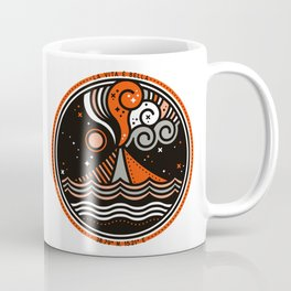 La Vita è Bella – Mediterranean Volcano in Tan Blue Palette Coffee Mug