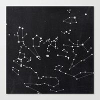 constellation Canvas Prints featuring Constellation by Mille Dørge