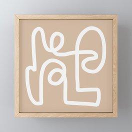 beige squiggle Framed Mini Art Print