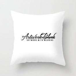 Vrtwork Blvck White Throw Pillow