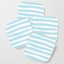 Ocean Blue Stripe Coaster