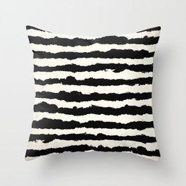 Horizontal Ivory Stripes Throw Pillow