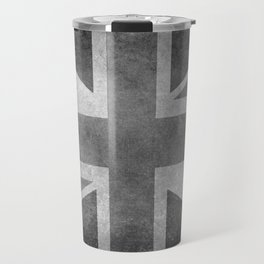 Union Jack Vintage 3:5 Version in grayscale Travel Mug