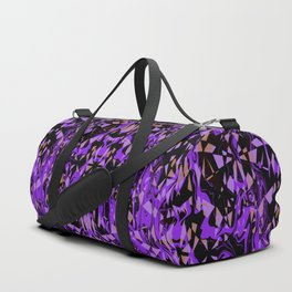 Purple and Black Abstract Duffle Bag