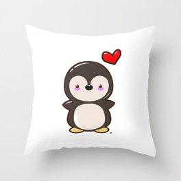 Penguin Kawaii Throw Pillow