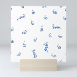 pattern with bunnies Mini Art Print