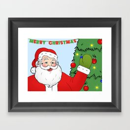 Santa Framed Art Print