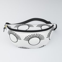 Black and White Tribal Pattern Fanny Pack