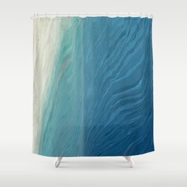 Pixel Sorting 68 Shower Curtain