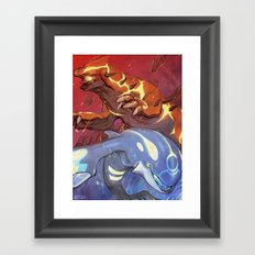 Omega Ruby & Alpha Sapphire Framed Art Print