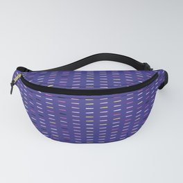 Geometric retro chevron shape seamless border pattern. Fanny Pack