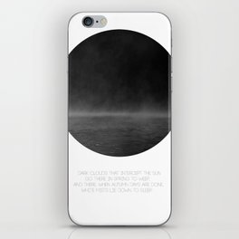 The Mist (white) iPhone Skin