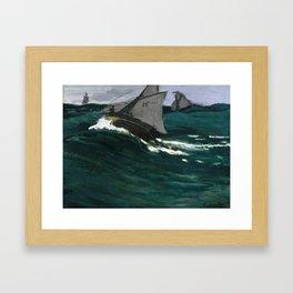 """Claude Monet """"The Green Wave"""" Framed Art Print"""
