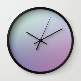 SLEEPYHEAD - Minimal Plain Soft Mood Color Blend Prints Wall Clock