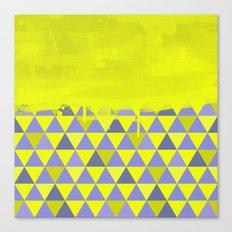 Triangle Dip Lime Canvas Print
