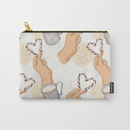 Hand With Heart | Valentines Day Pattern Carry-All Pouch