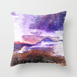 Milkyway Mount Bromo Indonesia. For Space & Astronomy Lovers. Throw Pillow