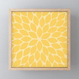 Sunshine Chrysanthemum Framed Mini Art Print