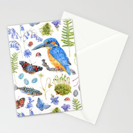 Woodland Stream Pattern Stationery Cards