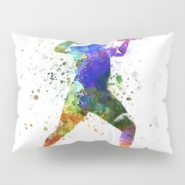 Man exercising weight training Pillow Sham